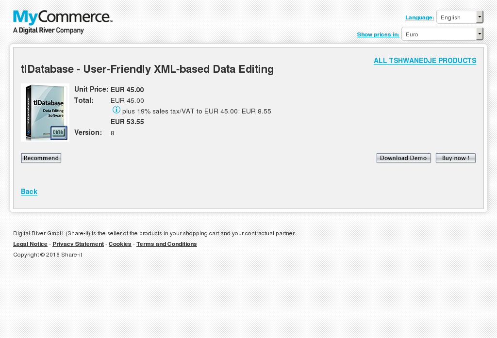 Tldatabase User Friendly Xml Based Data Editing Features