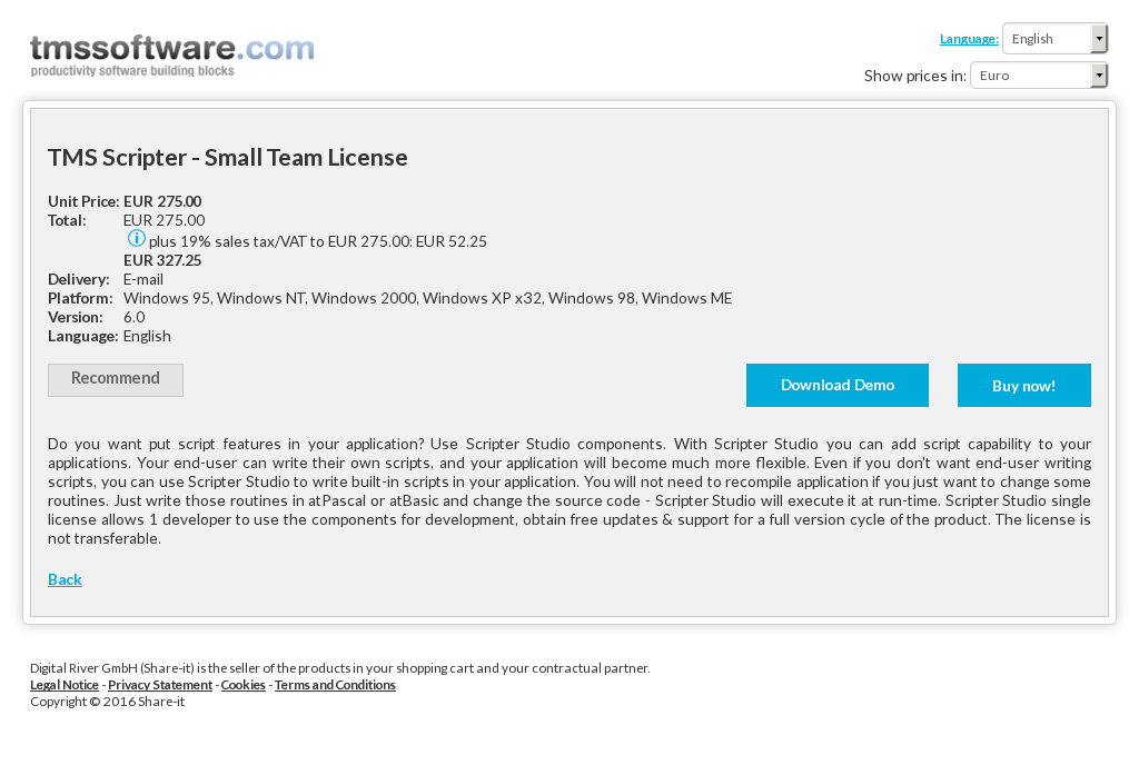 Tms Scripter Small Team License