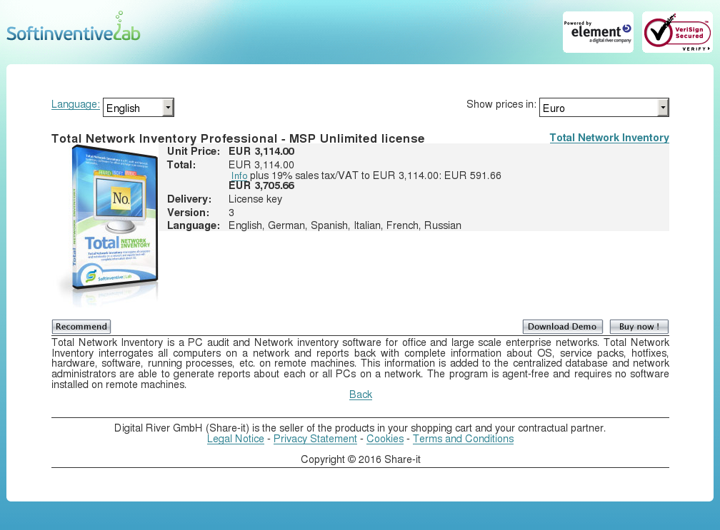 Total Network Inventory Professional Msp Unlimited License Features