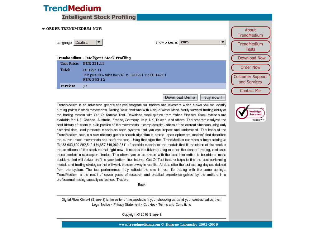 Trendmedium Intelligent Stock Profiling Alternative
