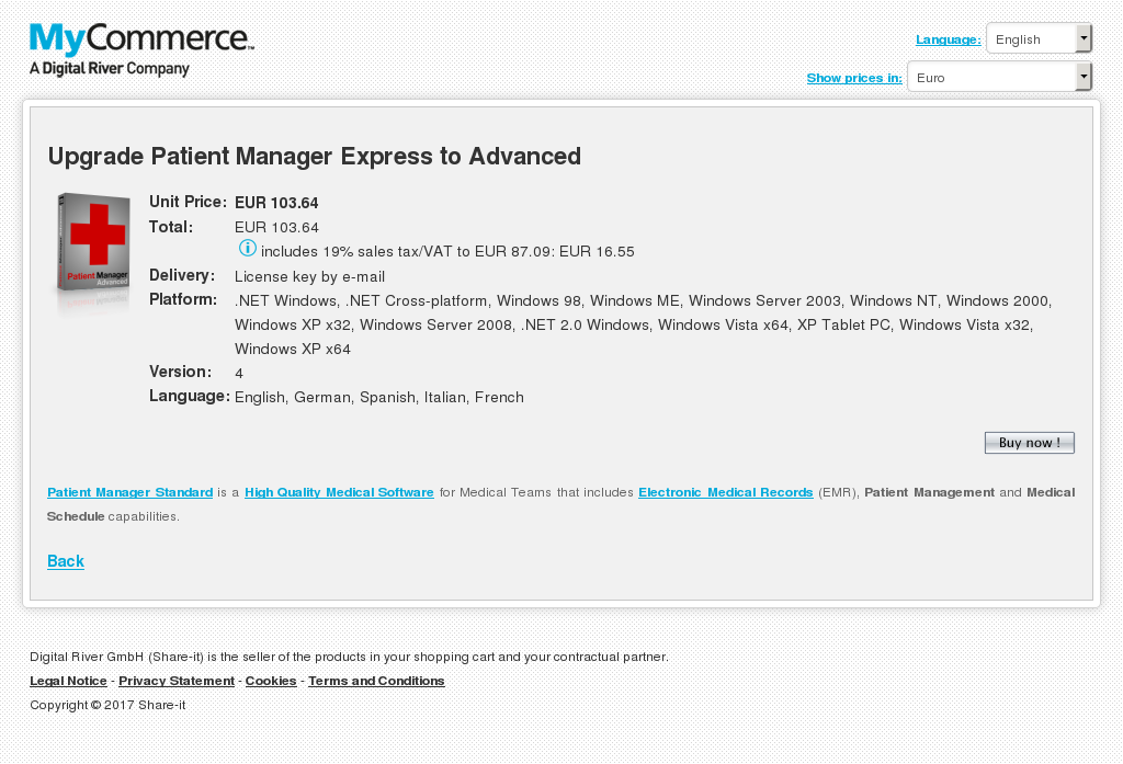 Upgrade Patient Manager Express Advanced Features