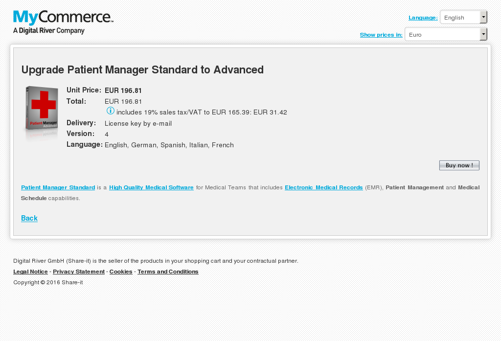 Upgrade Patient Manager Standard Advanced Howto