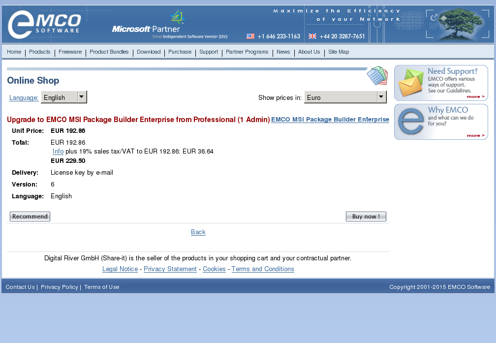 Upgrade Emco Msi Package Builder Enterprise From Professional Admin Download