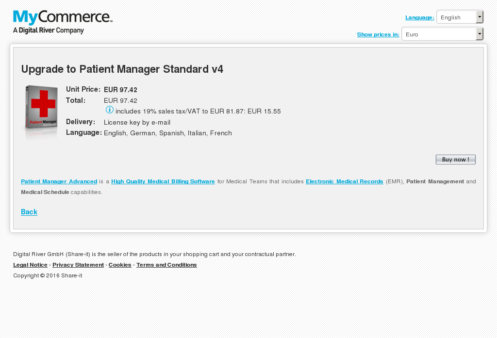 Upgrade Patient Manager Standard Howto