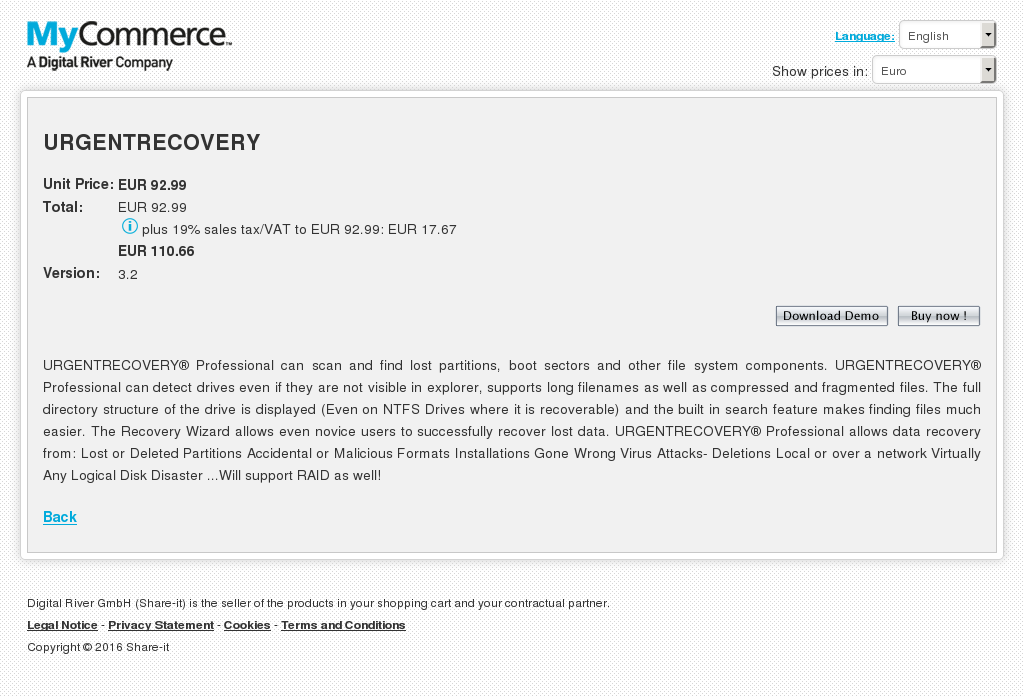 Urgentrecovery Features