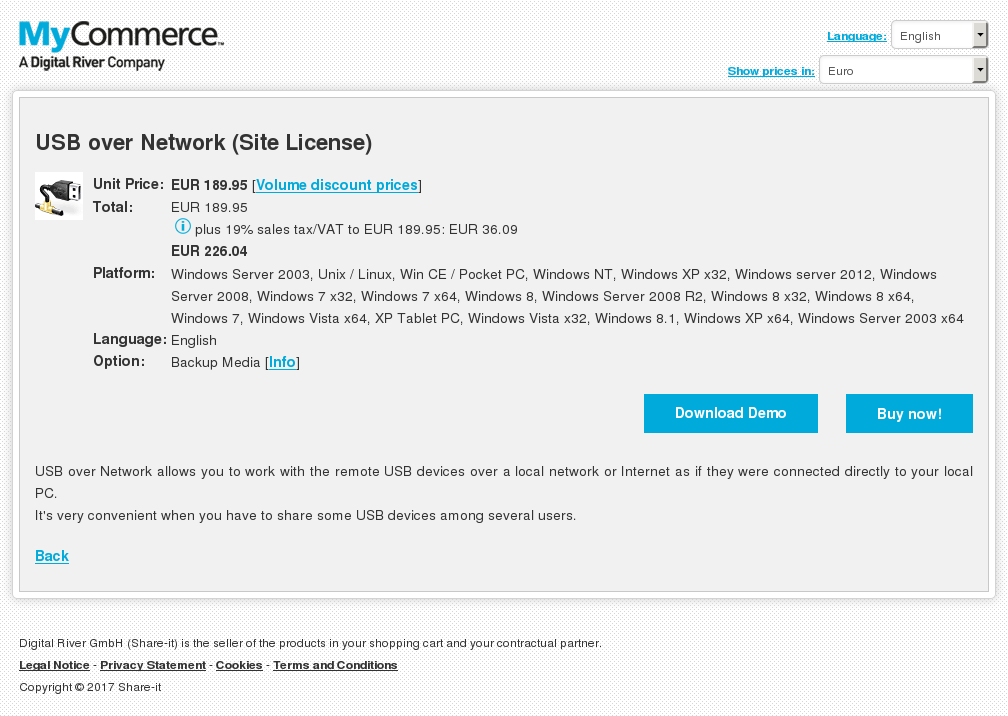 Usb Over Network Site License Review