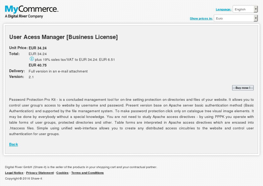 User Acess Manager Business License Review