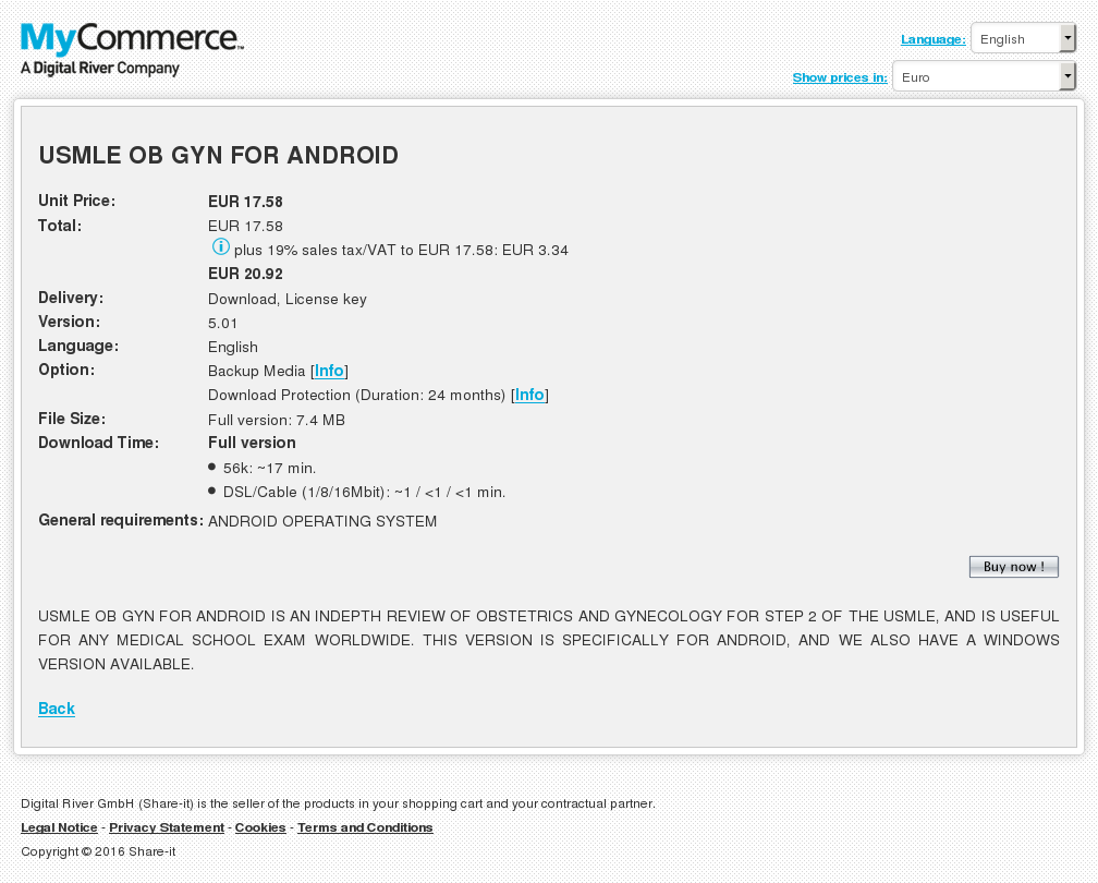 Usmle Gyn Android Key Information