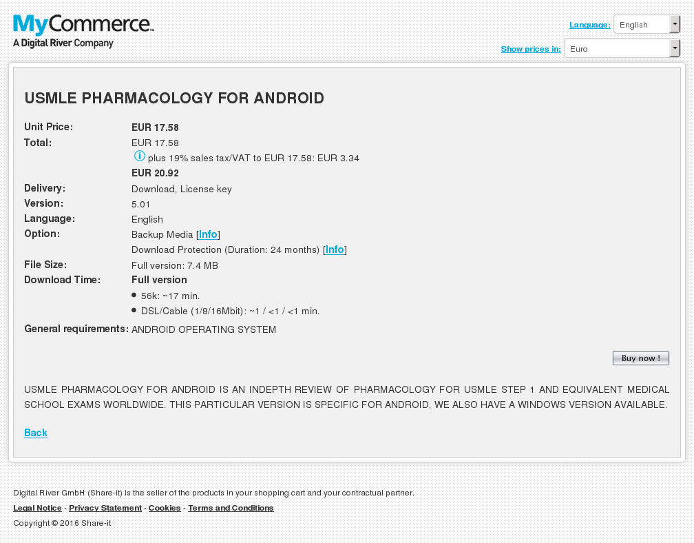 Usmle Pharmacology Android Features