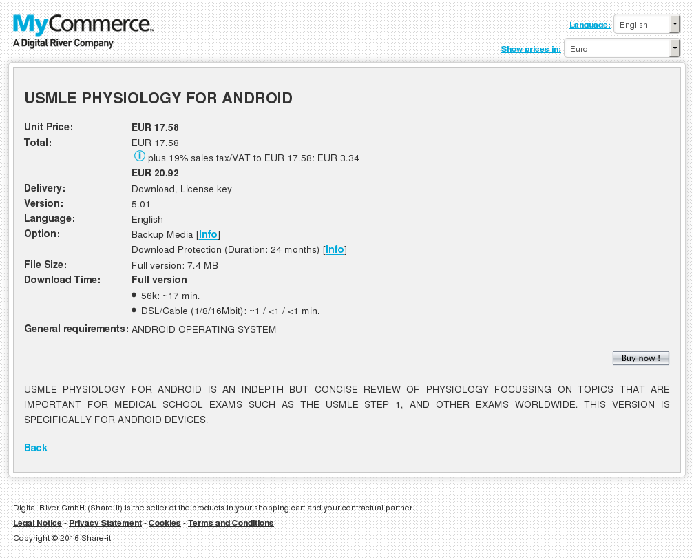 Usmle Physiology Android Free
