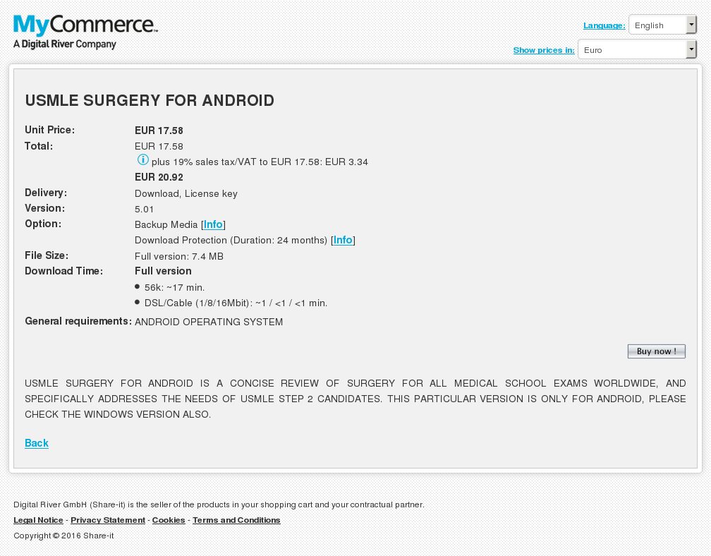 Usmle Surgery Android Key Information