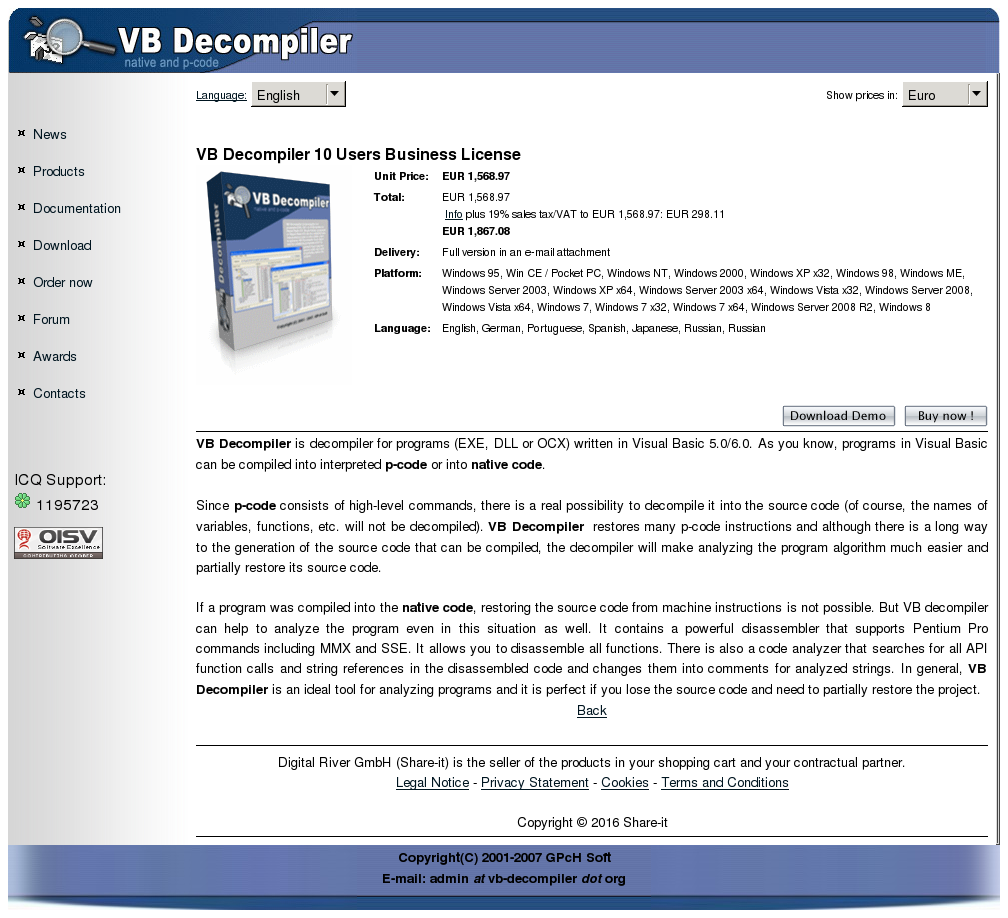 Decompiler Users Business License