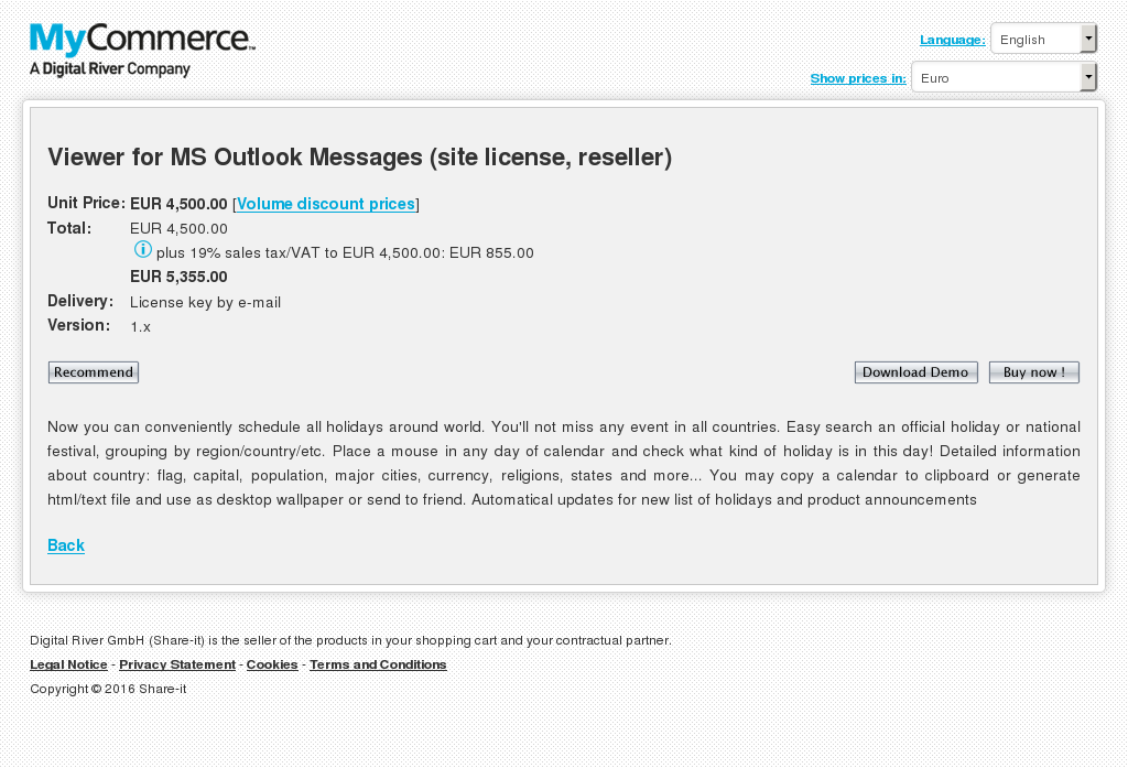 Viewer Outlook Messages Site License Reseller Alternative