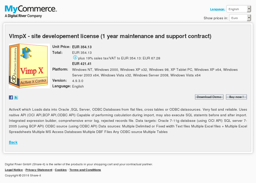 Vimpx Site Developement License Year Maintenance Support Contract