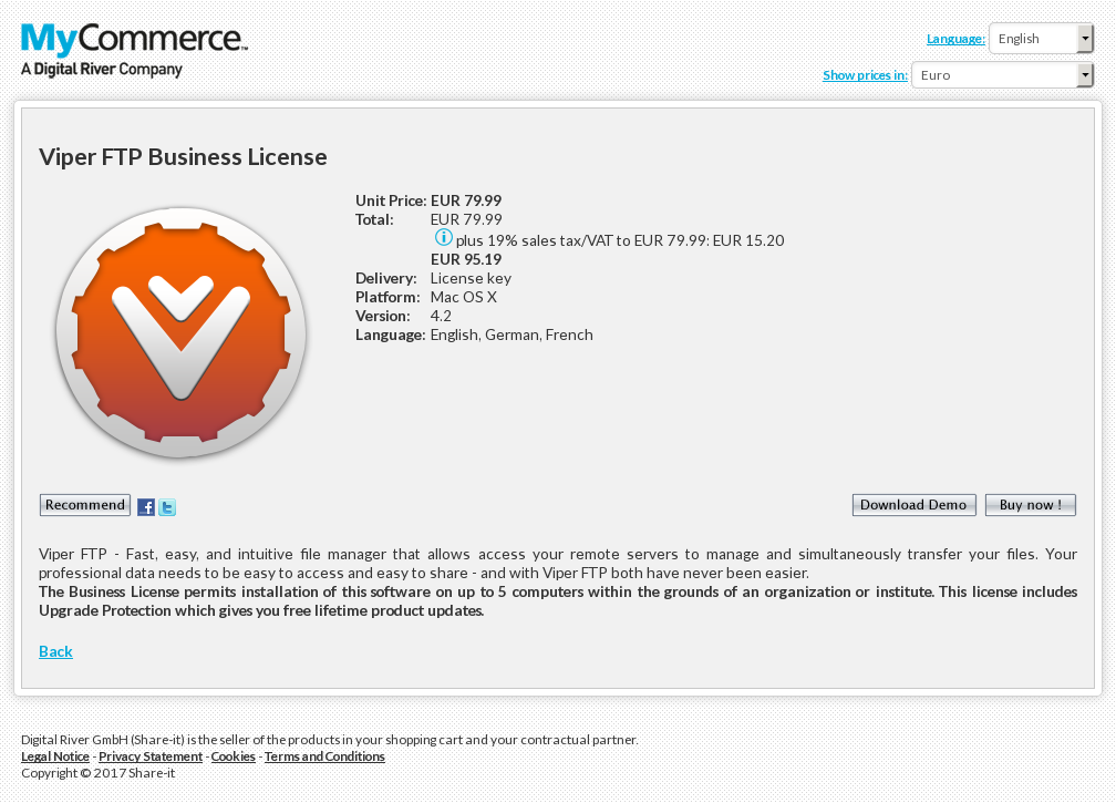 Viper Ftp Business License Free