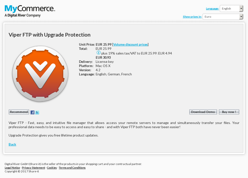 Viper Ftp With Upgrade Protection Key Information