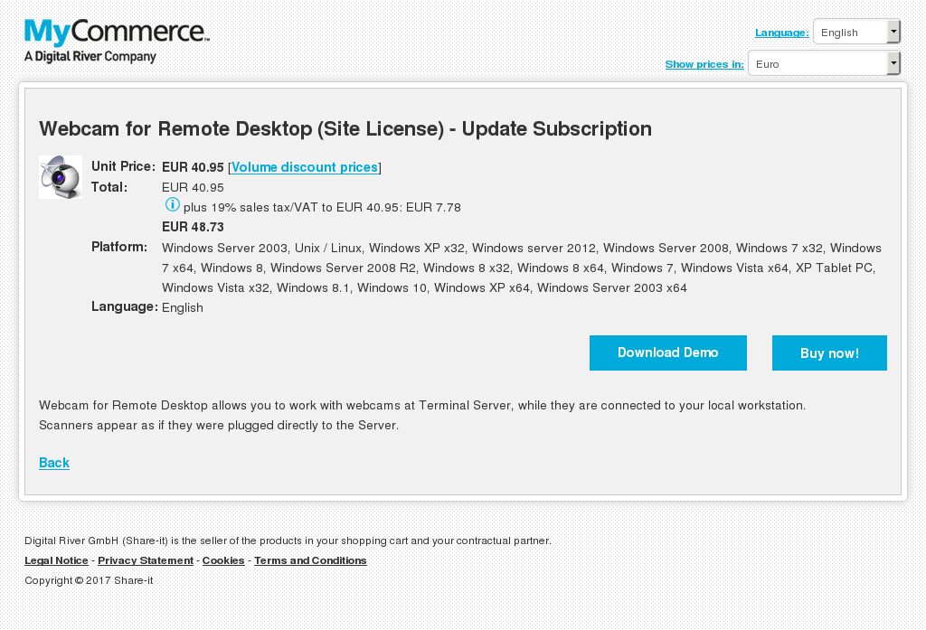 Webcam Remote Desktop Site License Update Subscription Review