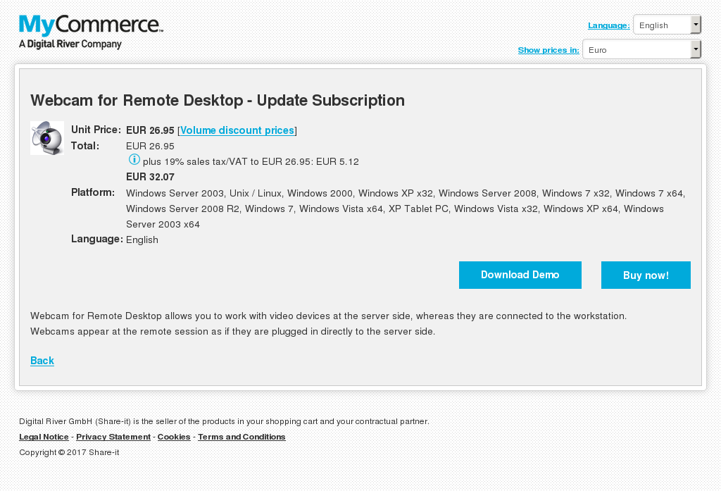Webcam Remote Desktop Update Subscription Features