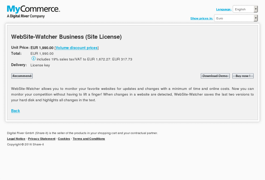 Website Watcher Business Site License Review