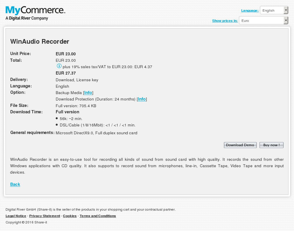 Winaudio Recorder Howto