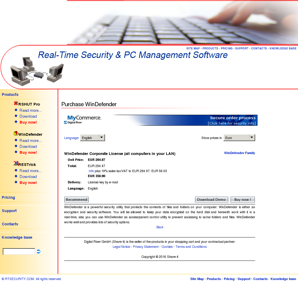 Windefender Corporate License All Computers Your Lan Alternative