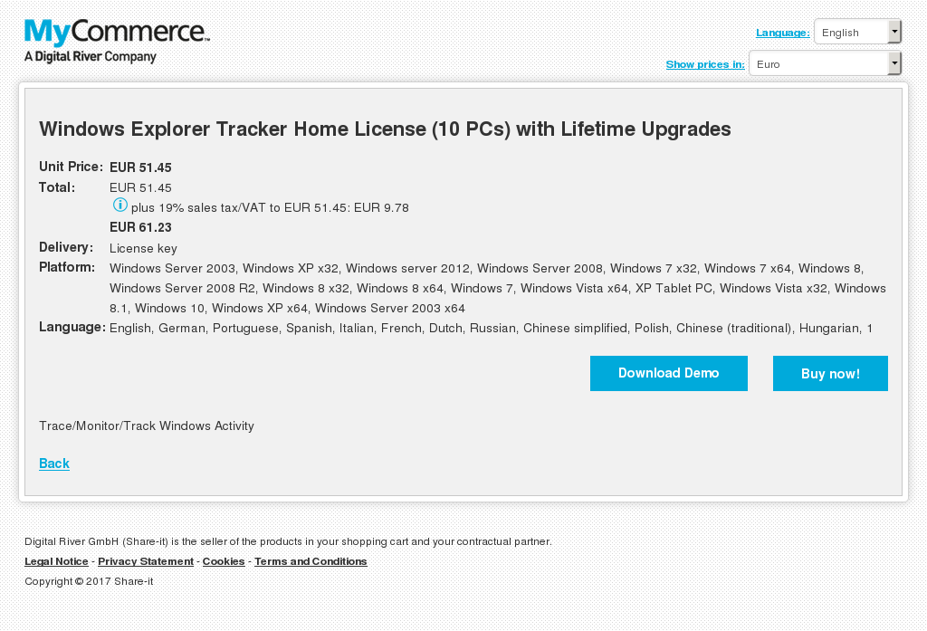 Windows Explorer Tracker Home License Pcs With Lifetime Upgrades Howto