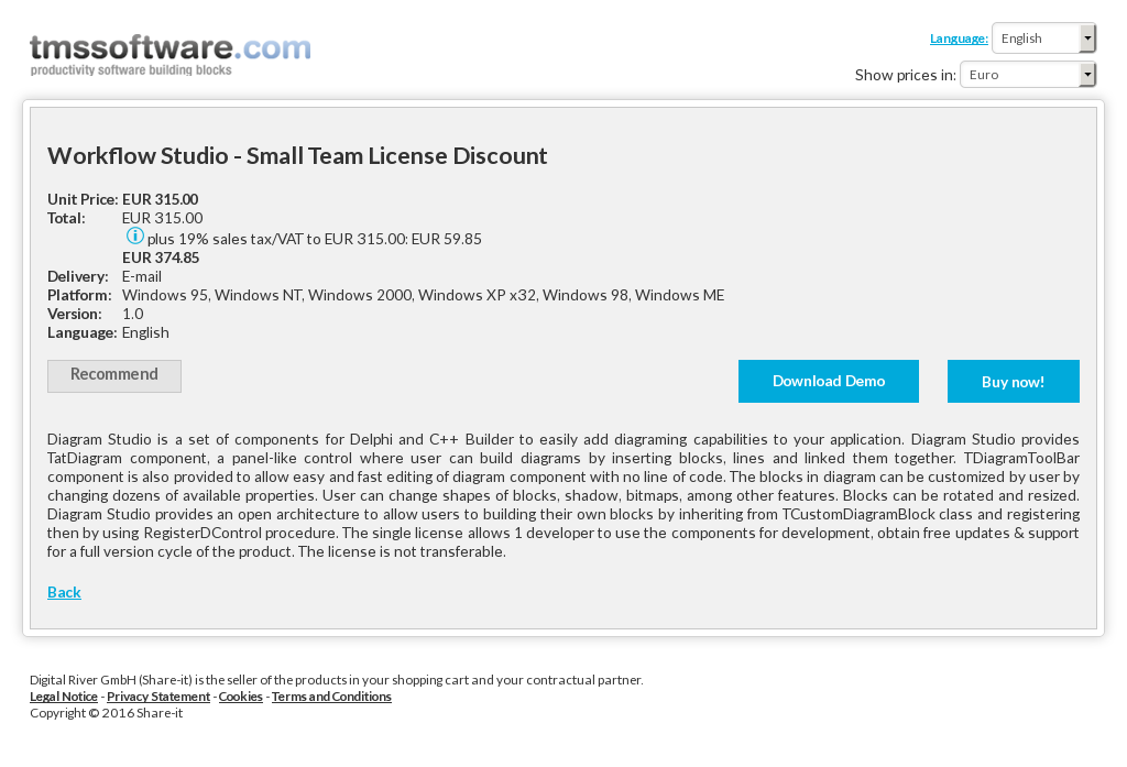 Workflow Studio Small Team License Discount