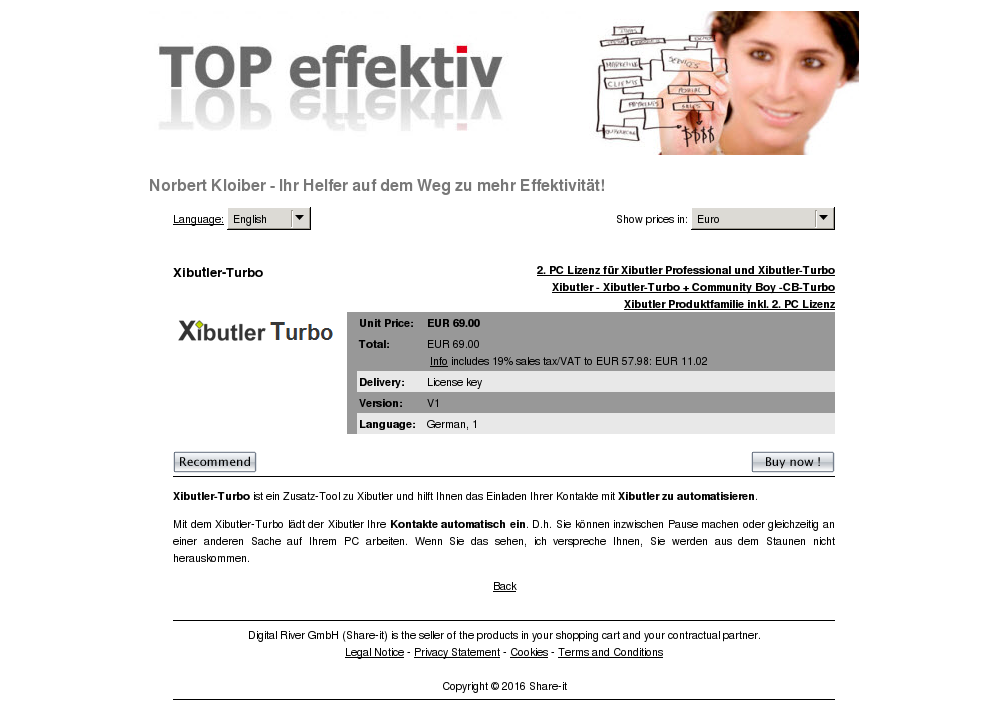 Xibutler Turbo Free