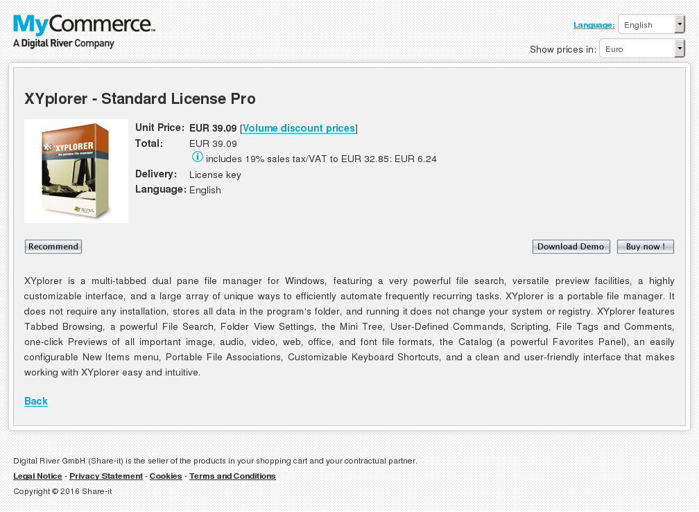 Xyplorer Standard License Pro Features
