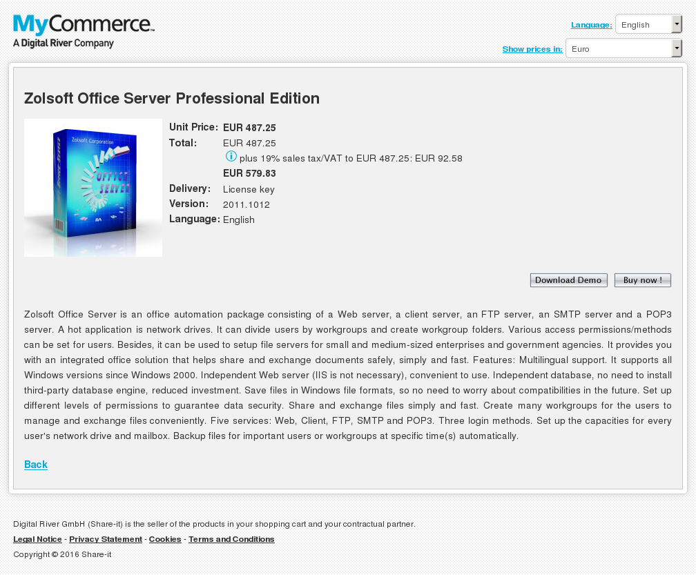 Zolsoft Office Server Professional Edition Review