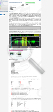 Audio Sound Recorder For NET Commercial Edition preview. Click for more details