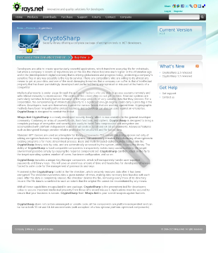CryptoSharp Security Library Team With Annual Subscription preview. Click for more details