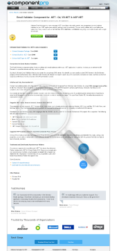 Email Validator For NET Early Renewal Standard Version 1 Developer No Source Code Year Subscription preview. Click for more details