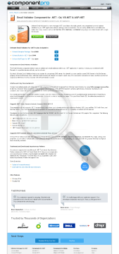 Email Validator For NET Premium Version 1 Company With Source Code Year Subscription preview. Click for more details