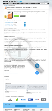Email Validator For NET Standard Version 1 Company No Source Code Lifetime Subscription preview. Click for more details