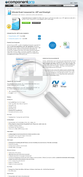 Excel Component For NET Premium Version 1 Company With Source Code Year Subscription preview. Click for more details