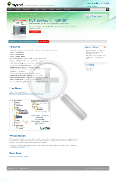 FlyTreeView For ASP NET Team License preview. Click for more details