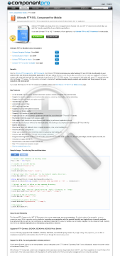 FTP Component For Mobile Standard Version 1 Developer No Source Code Year Subscription preview. Click for more details