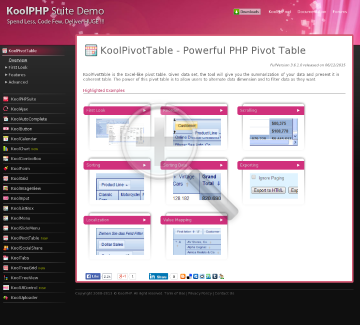 KoolPivotTable Bundling License preview. Click for more details