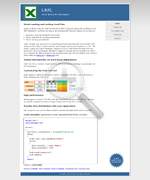 LibXL Site License For Windows & Mac preview. Click for more details