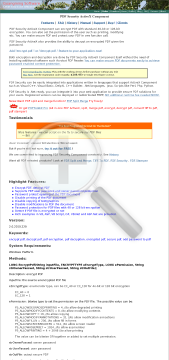 PDF Security Single Academic License preview. Click for more details