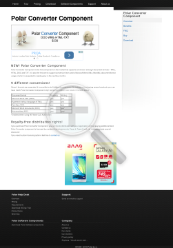 Polar Converter Component 1 License preview. Click for more details