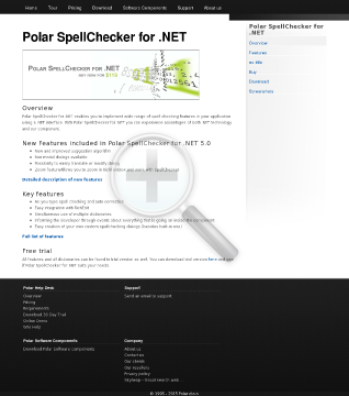 Polar SpellChecker For NET 1 License preview. Click for more details