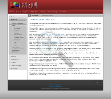 TVideoGrabber SDK 10 1 Royaltyfree Developer License 2 Years Of Upgrades And Email Support Included preview. Click for more details