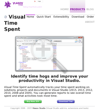 Visual Time Spent Personal Lifetime License preview. Click for more details