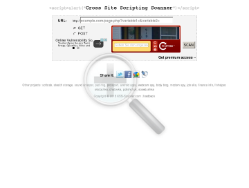 XSS Scanner Single Website preview. Click for more details