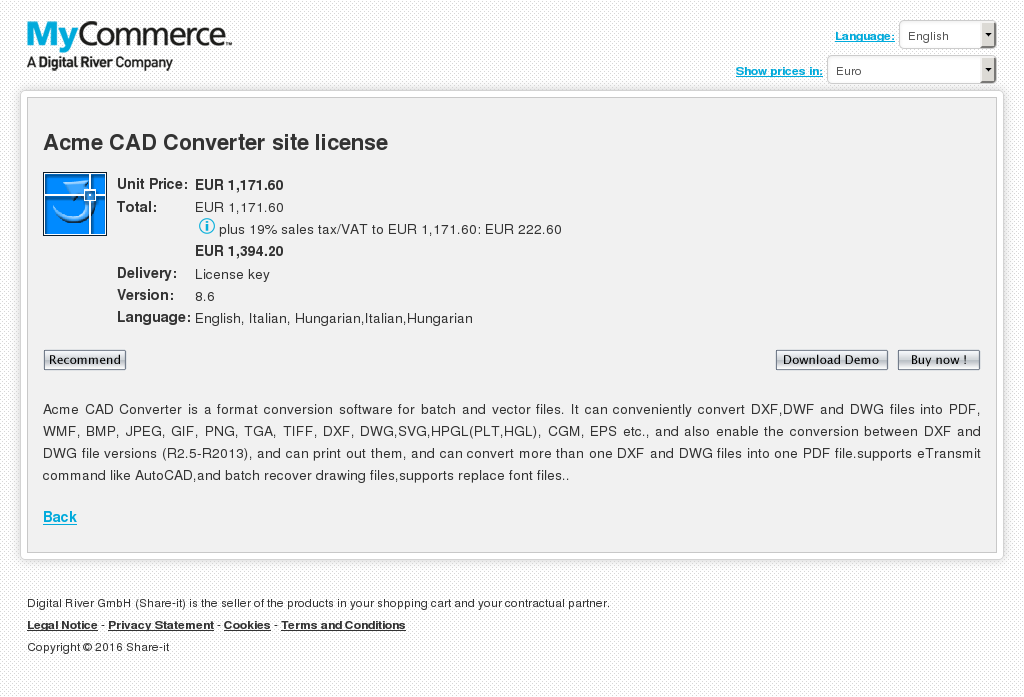 Acme Cad Converter Site License Howto