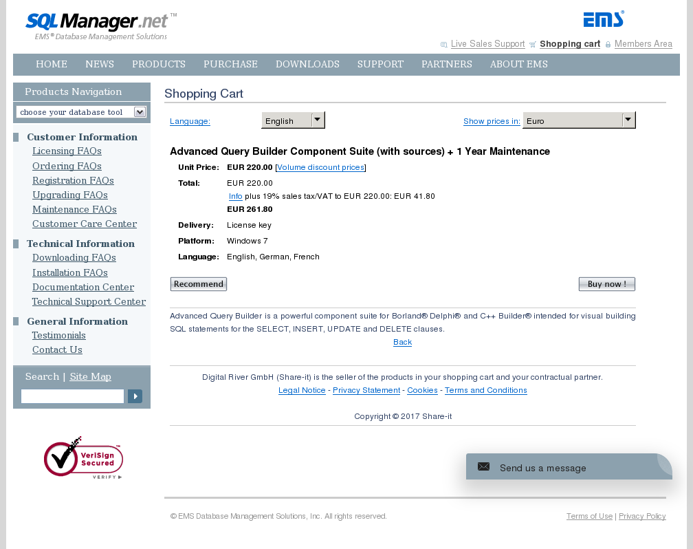 Advanced Query Builder Component Suite With Sources Year Maintenance Review