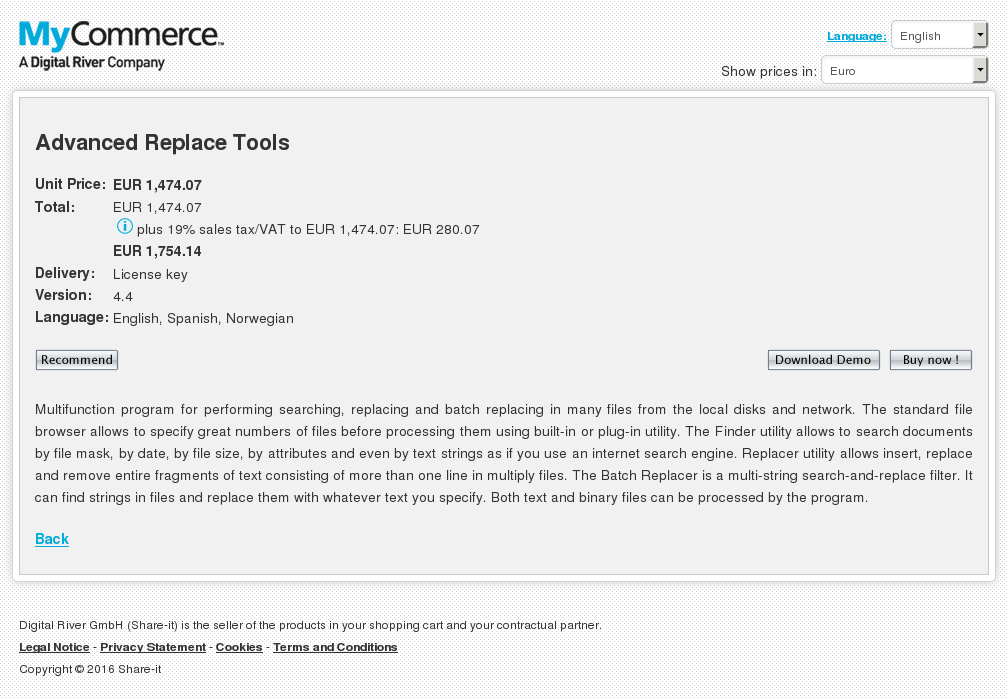 Advanced Replace Tools Free
