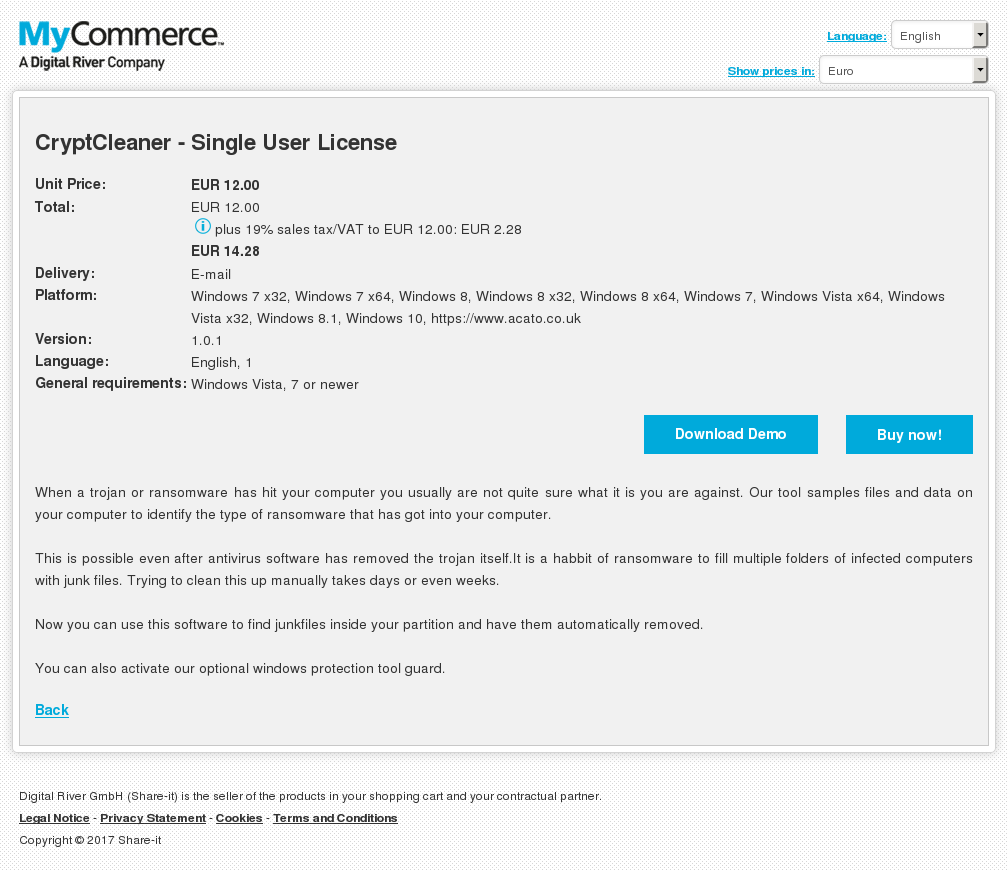 Cryptcleaner Single User License Features